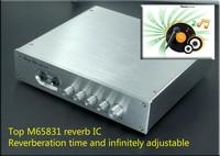 220 v m65831 독점 디지털 karaok 플레이어 조정 가능한 지연 시간 opa275 더블 정밀 jrc5532 프리 앰프 hifi 앰프