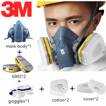 8 In 1 3M 7502 Silicone Paint Gas Mask 6003 Organic Vapors Acid Gases Cartridge Filter Chemicals Factory Lab Test Pesticide Work(China)
