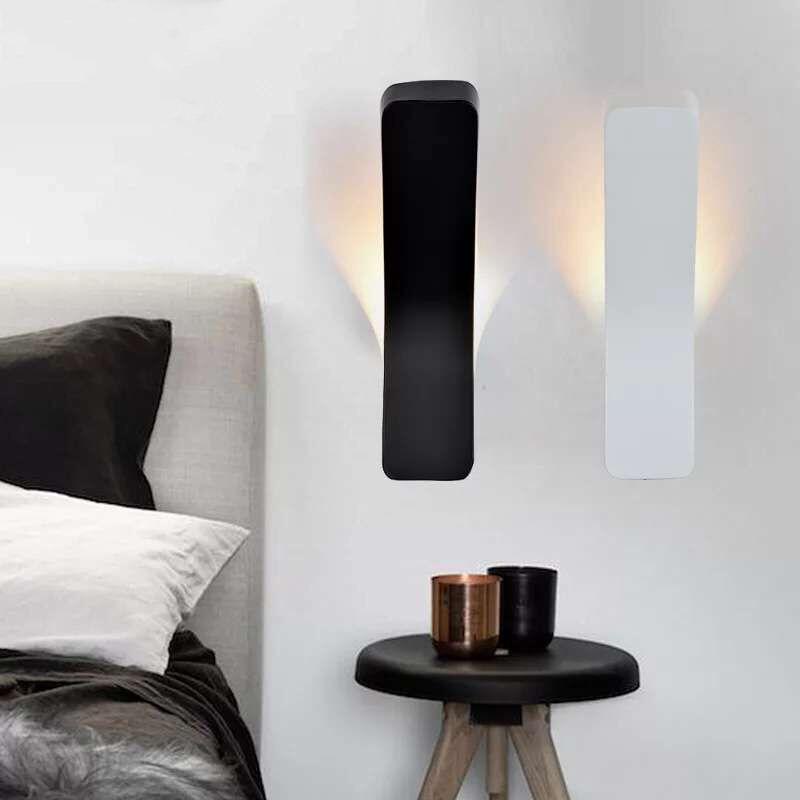 Bílá 4W LED nástěnná svítidla Nové moderní svítidlo AC85-265V Nástěnná svítidla černá Noční lampa Lampada Železné vnitřní osvětlení Fixutre