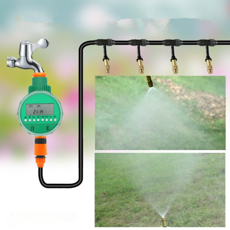 10/15/25m Micro Drip Irrigation With Timer Plant Self Watering Adjustable Misting Sprinkler Garden Water Irrigation Kits BC0610/15/25m Micro Drip Irrigation With Timer Plant Self Watering Adjustable Misting Sprinkler Garden Water Irrigation Kits BC06