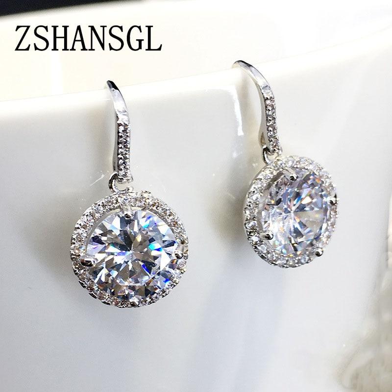 Wholesale Elegant  925 Sterling Silver Filled Big Weave Dangle Earrings Gift