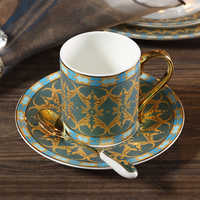 Exotic British Bone china Coffee Cup and saucers High Quality Fashion Coffee Cup And tea cups set Home Party Teacup 250ML