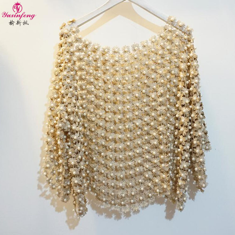 Yuxinfeng Summer Heavy Beading Shirts Women Fashion Holow Out O Neck Party Blouses Shirt ...