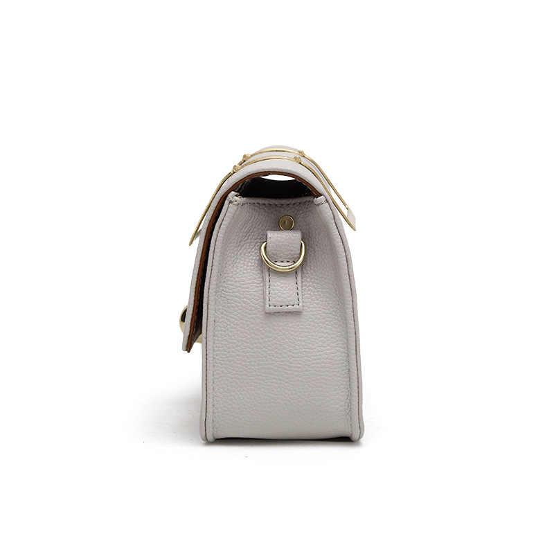 Đen Hồng Trắng Thời Trang Flap PU Leather Shoulder Bag Messenger Túi Xách Chuỗi Túi