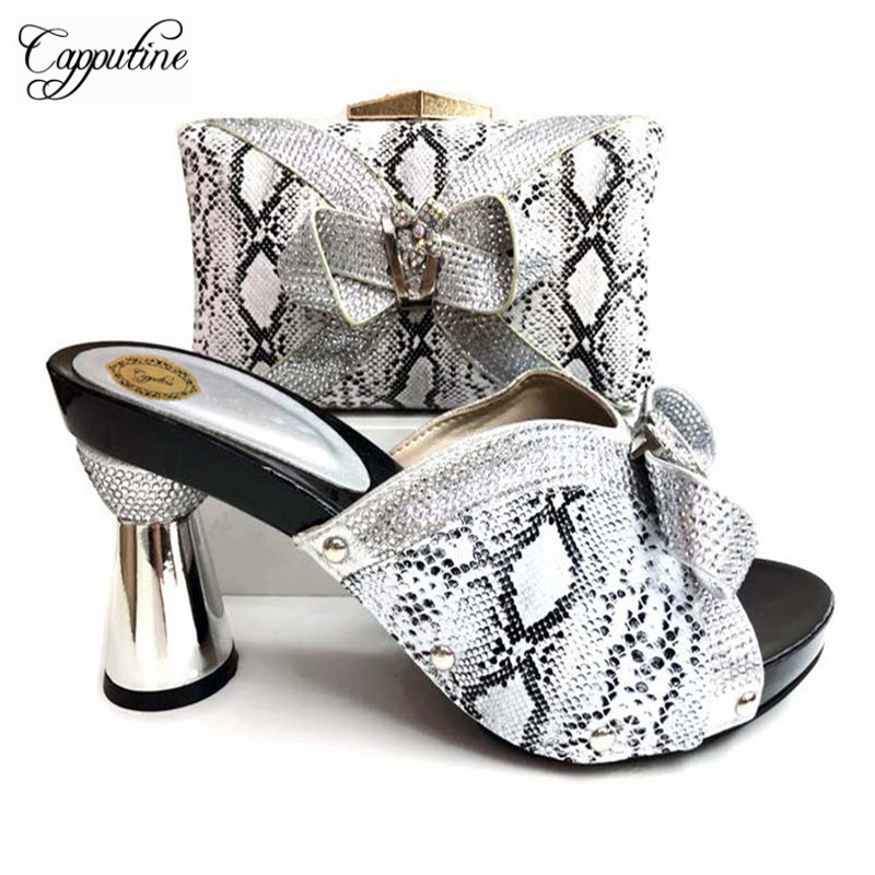 Bombas Partido Y Mujeres Set Alta rojo Mujer Negro Cielo plata oro Capputine Bolso Calidad azul Moda De Pu Diseño Matching púrpura Zapatos Nigeria Italiano rosado 8tqwPOq6