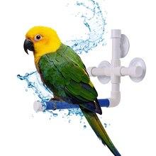 Птица Душ Ванна окунь Складная стойка платформа Игрушки для маленьких и больших попугаев птица аксессуары для животных Птица подставка