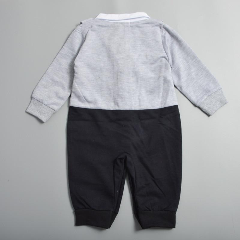 Baby Boy Clothes roupa infantil Romper Long Sleeve romper babykleding gentleman baptism Uniforms baby body suits newborn clothes
