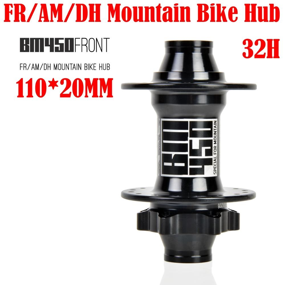 KOOZER MTB/FR/AM/DH Bicycle Front Hub 2 sealed bearings Hub Mountain Bike Hubs 110*20MM 32 Holes BM450