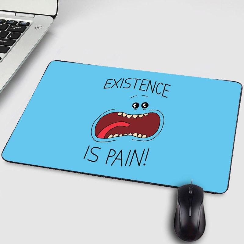 Mairuige tão legal engraçado lol anime dos desenhos animados de borracha pequeno mousepad rick e morty padrão criativo diy mesa computador jogo esteira
