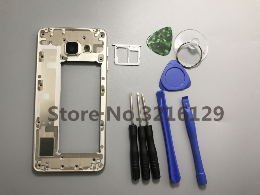 Original Replacement + Middle Frame + Sim Card Tray For Samsung Galaxy A3 2016 A310+tools