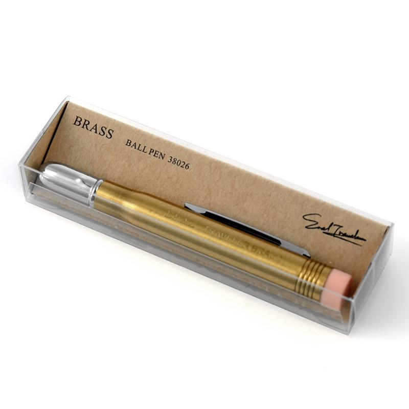 (ET) crayon en laiton du voyageur. Mini pour transporter de la papeterie en métal. Très belle série de papeterie de voyage rétro. Accessoires de photos.