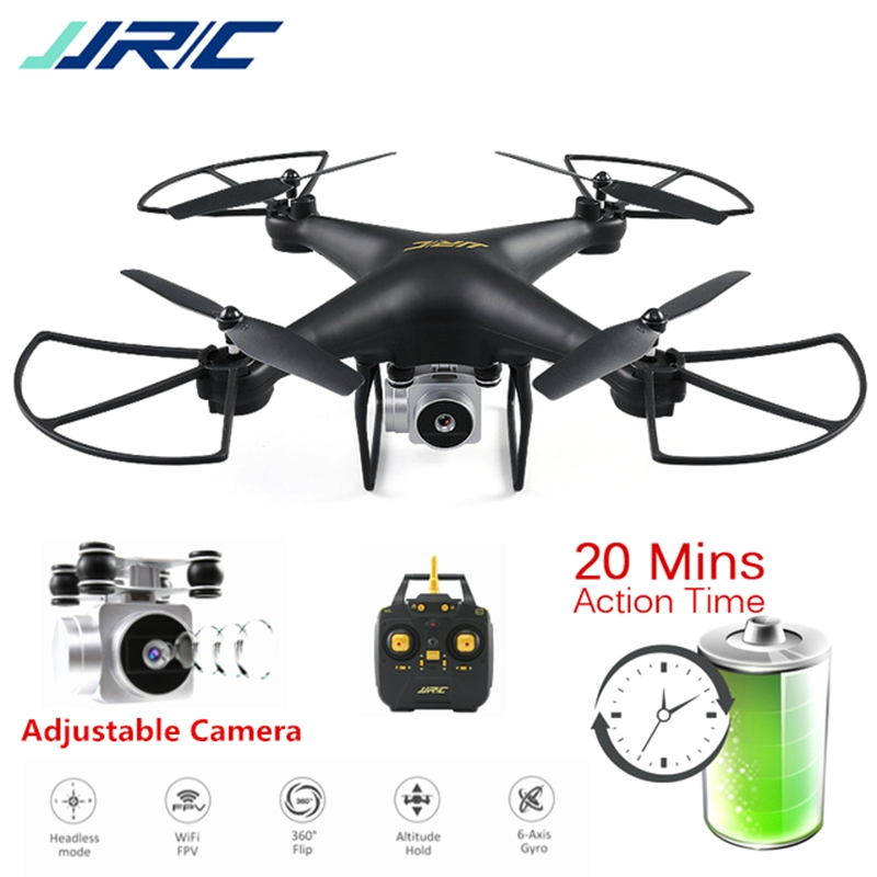 JJRC H68 RC Drone with HD WiFi FPV Camera Altitude Hold Headless Mode Dron 20 Minutes Flying Time Quadcopter Selfie Drone jjrc h12wh wifi fpv with 2mp camera headless mode air press altitude hold rc quadcopter rtf 2 4ghz