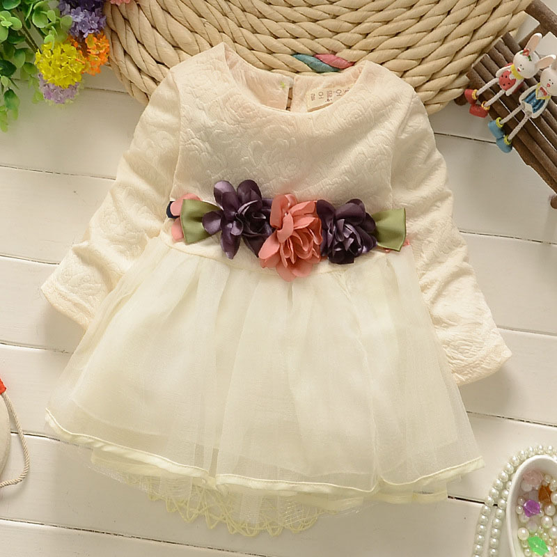 NEW flower Christmas Baby Girl first birthday Little Dress Infant Christening Gowns Kids Party Clothes Girls toddle Clothing
