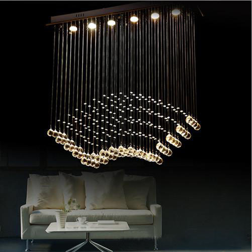 Modern K9 Crystal Ceiling Lamp Restaurant Lighting Home Decoration Fixture (50x20x80) Free shipping