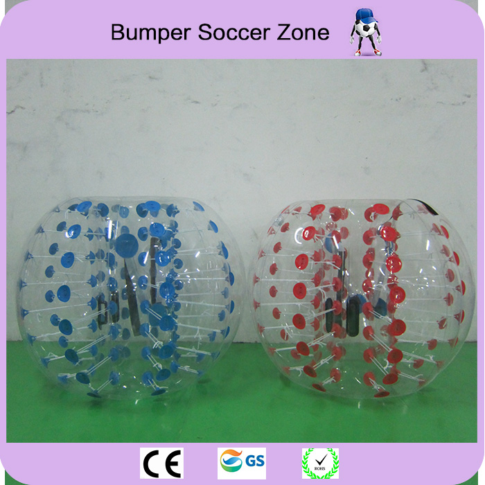 Sport en plein air 1.2 m PVC Gonflable Bulle Football Hamster Humain Balle Pare-chocs Corps Costume Dérangé Bulle Football Boule De Zorb Pour vente