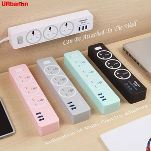 Image 3 - Urbantin 3AC&3 USB Power Strip Smart plug 2.1A 2.4A quick charge Power Strip Universal socket For EU AU UK US