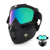 Пылезащитная велосипедная маска для лица Мужская Женская лыжные очки ветрозащитные зима CS тактические маски для сноубординга анти-УФ очки ...