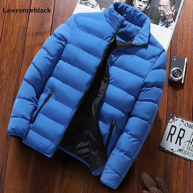 Brand Stand Collar Quilted Men Winter Jackets men Fashion Thick Warm Outerwear Cotton Padded Coat Windbreak Down   Parkas   1914