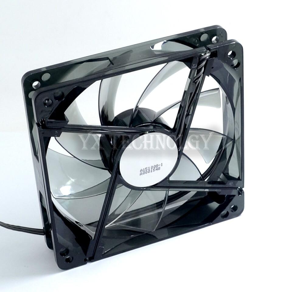SZYTF  wind blade chassis fan 12  4PIN PWM temperature controller 12cm LED fan компонент системы охлаждения fan controller deepcool fan hub 4pin 25g 4x4pin pwm ports rtl
