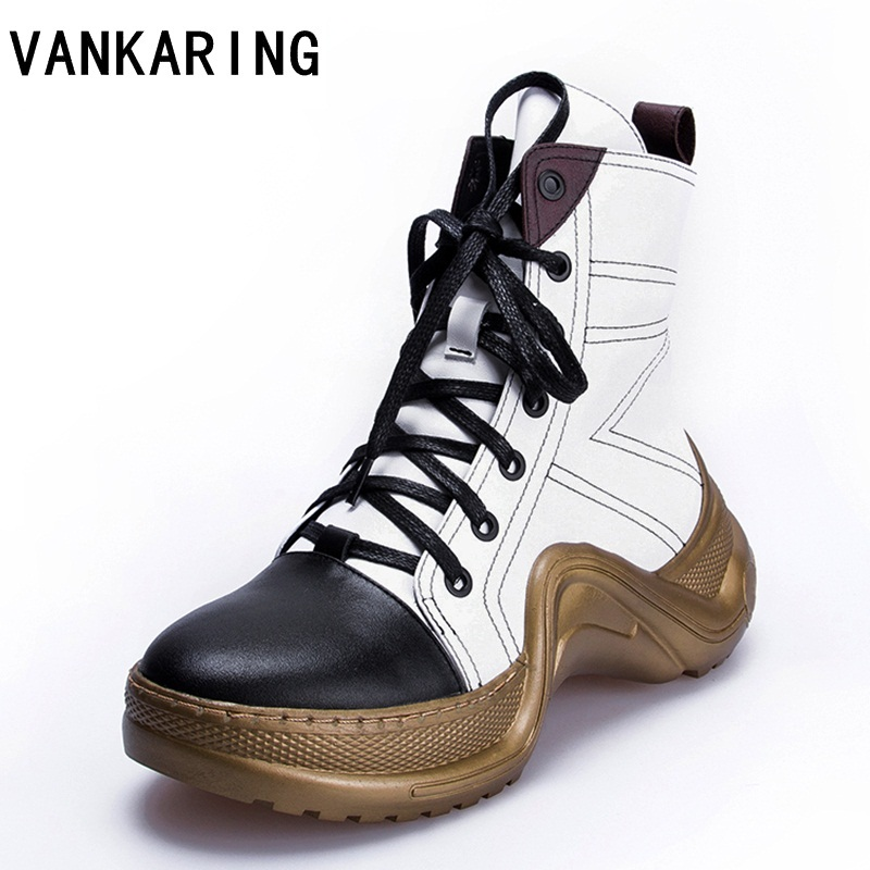 VANKARING brand shoes genuine leather ankle boots women wedge heels autumn winter boots women platform shoes woman snow boots 5pc lot maintenance tank chip for epson 7890 9890 7908 9890 7900 9900 7910 9910
