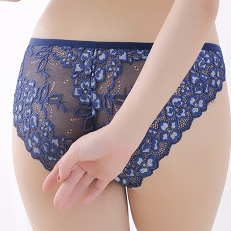Hot Sale sexy women's sexy lace panties seamless cotton breathable panty Hollow briefs Plus Size girl underwear