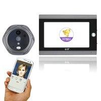 720 P Wi-Fi Беспроводной Цифровой глазок двери Viewer 7 inch спереди Видео дверной глазок Камера беспроводной дверной звонок с внутренней или взять ...