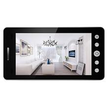 5 インチ画面ワイヤレスドアベルipカメラ 5000mah 160 度のぞきアプリで制御暗視pirモーションセンサー