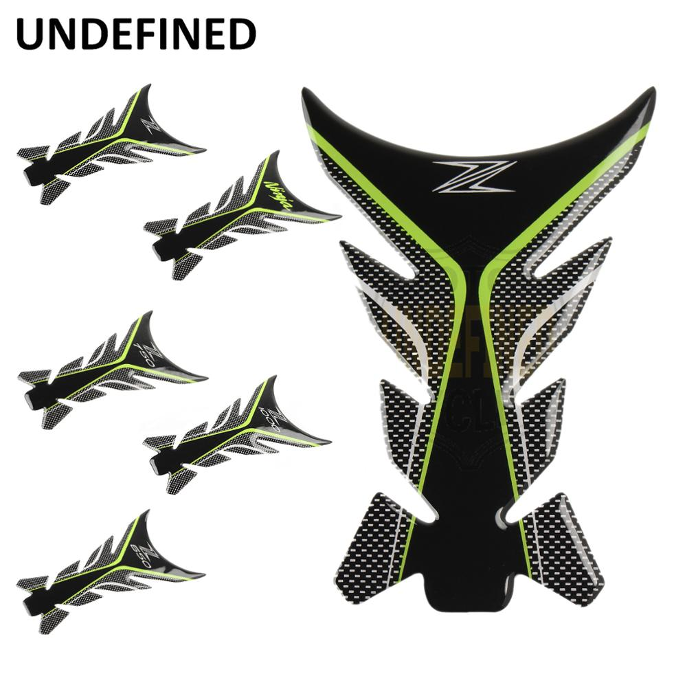 UNDEFINED For Kawasaki Z1000 Z900 Z750 Z650 Z 3D Motorcycle Sticker Fishbone Fuel Tank Pad Protector Decal Pegatinas Moto