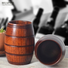12pcs Wood Crafts DIY Creative household goods barrel wooden beer cup wholesale Hotel Plate restaurant decoration home