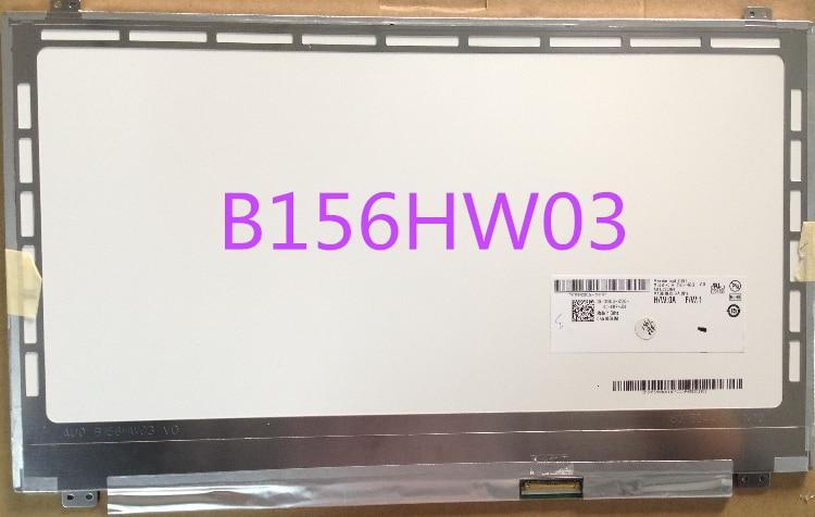 B156HW03 V.0 B156HW03 LAPTOP LCD SCREEN 15.6 Full-HD GLOSSY LED b156xtn03 v 2 new laptop 15 6 hd glossy slim led lcd screen auo b156xtn03 2