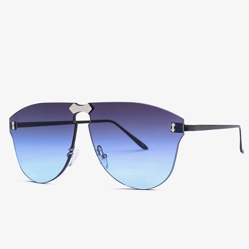 b7876acf4e 2018 Fashion Rimless Aviator Sunglasses Women Brand Designer Square  Sunglasses For Male Female Oversized Shades oculos de sol-in Sunglasses  from Apparel ...