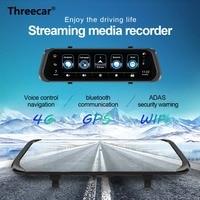 New 10'' Stream Rearview Mirror Car DVR 1080P Smart Dash Cam 4G Android HD Dual Lens ADAS GPS Wifi Auto Registrar Camera DVRs