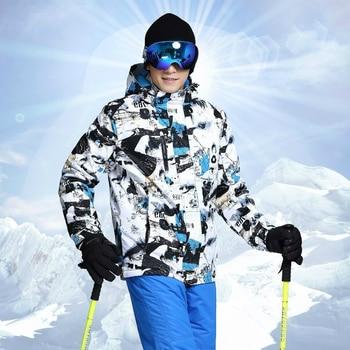 Men Ski Jacket Winter Outdoor High Quality Waterproof Thicken Warm Snow Snowboard Ski Jacket Brands Hooded Snowboard Jacket Men