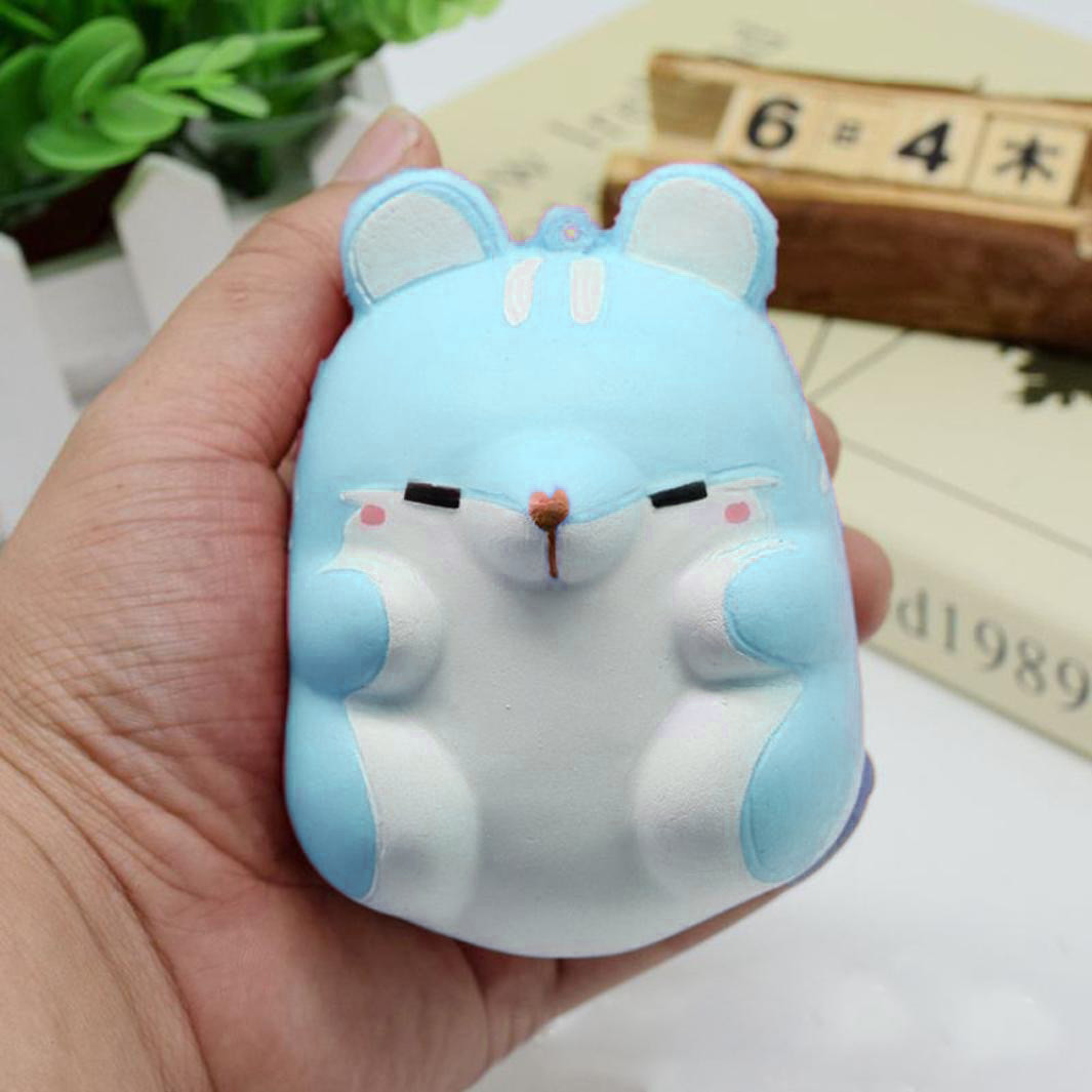Fun Autism toys Hamster Squishy Decor Slow Rising Kid Toy Squeeze Relieve Anxiet Gift Toys for children PU simulation Hamster