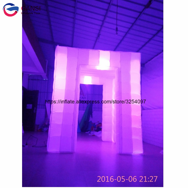 2.4*2.4*2.4m inflatable mirror photo booth tent with led,wedding photo booth props for sale free shipping oxford material wedding party decoration inflatable the photo booth