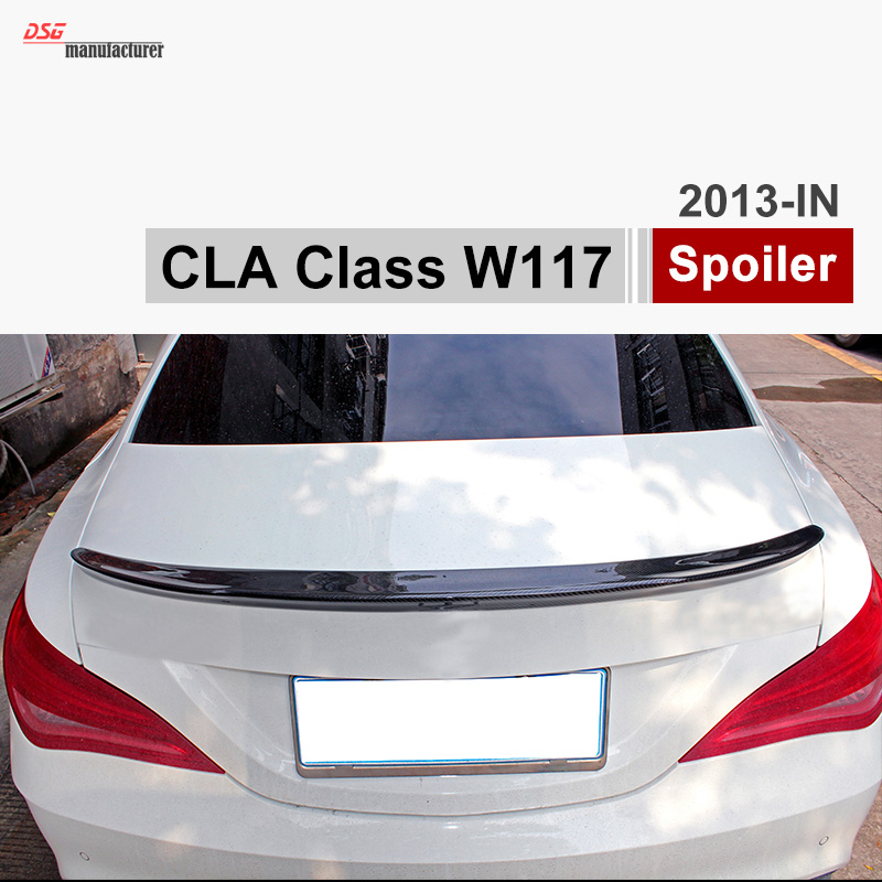CLA FD Style Mercedes W117 Carbon Fiber Trunk Spoiler For Benz CLA 180 CLA 200 CLA 220 CLA250 mercedes cla w117 amg style replacement cf rear trunk wing spoiler for benz 2013 cla 180 cla200 cla 250