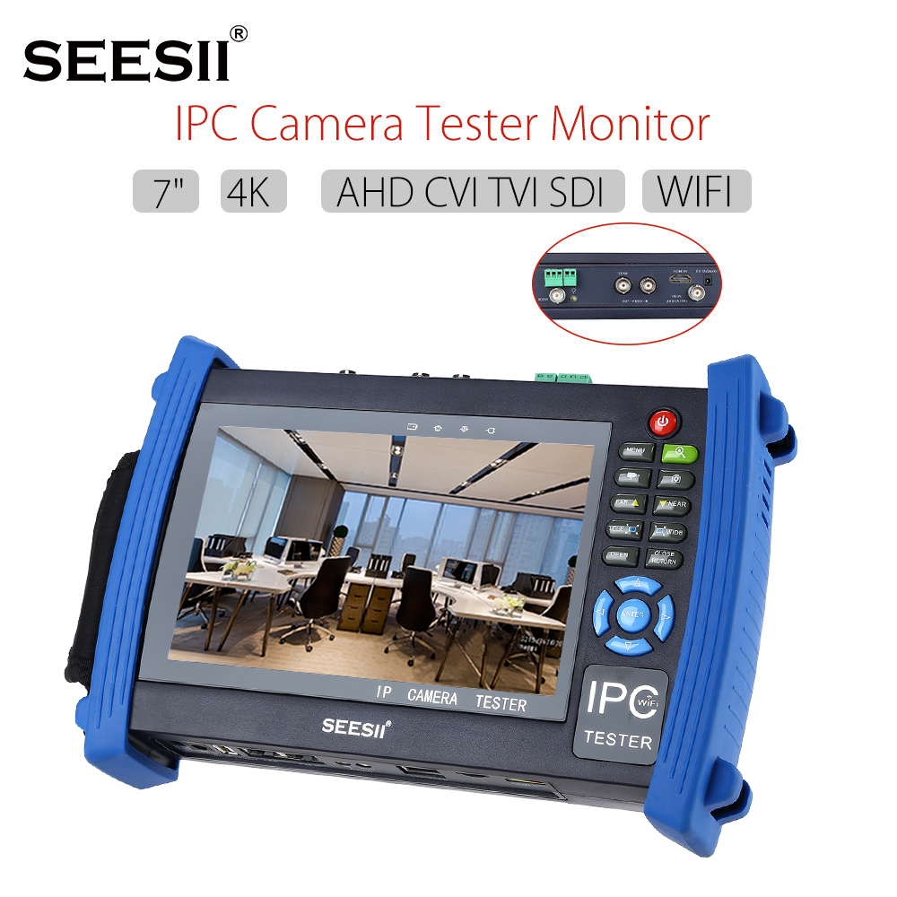 SEESII 8600ADHSPLU 4K 7 Retina Touch Screen IPC Camera Monitor Tester AHD TVI CVI SDI PTZ Control 8GB HDMI CCTV Security Camera