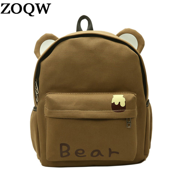 ZOQW Cute School Backpack Women Harajuku Children Schoolbag Back Pack Female  knapsack Laptop Backpacks For Teenage Girls WYQ651 0ebcacabb8