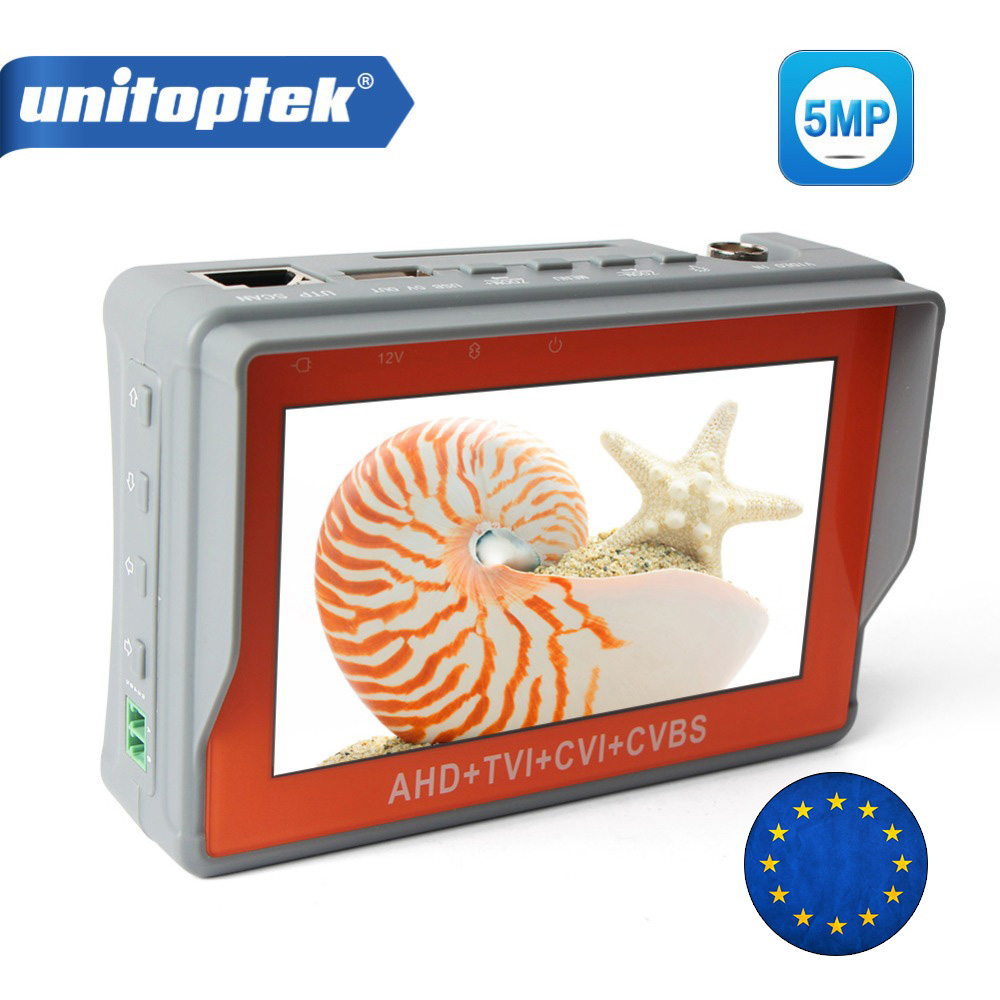 5MP CCTV Caméra Testeur Pour 4 Dans 1 HD AHD TVI CVI CVBS Analogique Caméra Vidéo Audio Test Testeur de Sécurité avec 4.3 pouce LCD Moniteur