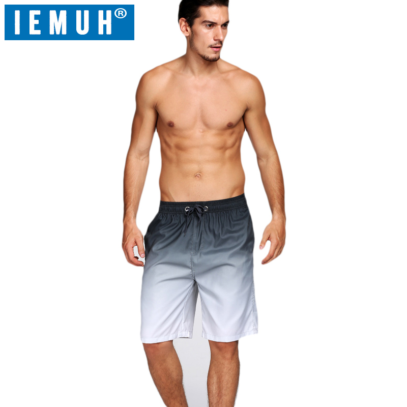 IEMUH New Hot Mens   Shorts   Surf   Board     Shorts   Summer Sport Beach   Shorts   Homme Bermuda   Short   Pants Quick Dry Gradient Boardshorts