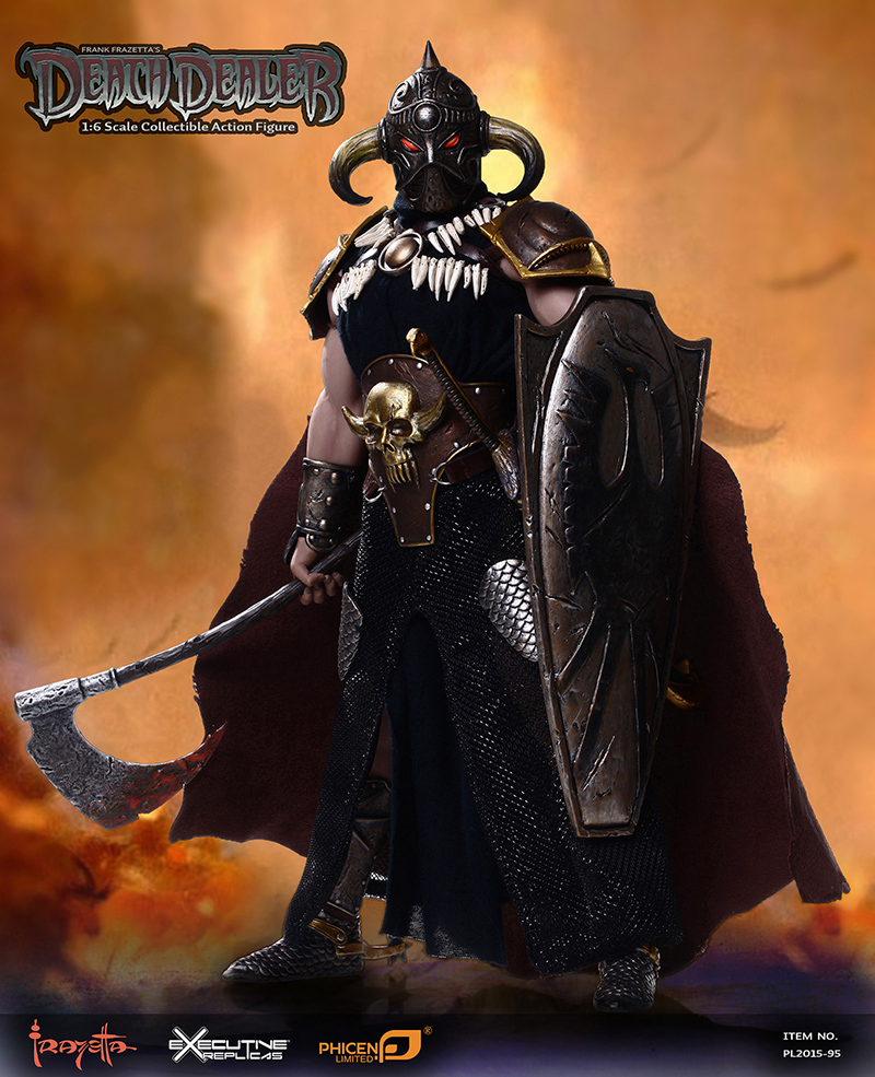 1/6 figure doll Frank Frazetta's Death Dealer.12 action figure doll with seamless male body.Collectible figure toy model be frank with me