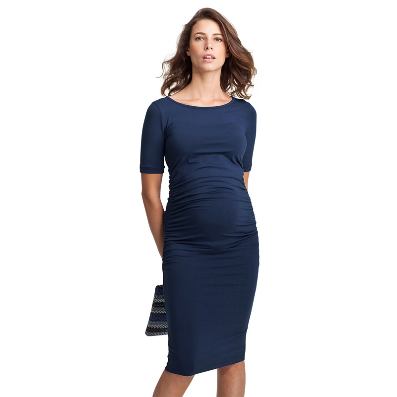 Happy Easter Gift Maternity Dresses O Neck Pregnancy Clothes for Pregnant Women Knee Length Office Lady