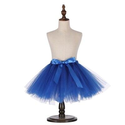 Милые пышные мягкие фатиновые юбки-пачки для малышей; юбка-американка для дня рождения для новорожденных; юбки-пачки для девочек; детские юбки-пачки; одежда для малышей - Цвет: Синий
