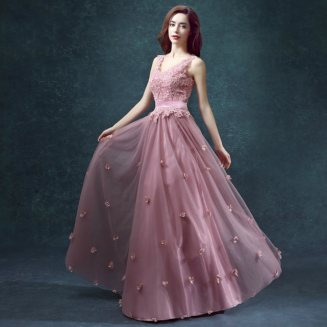 e0f8967239a A-Line V-neck double-shoulder sisters spring dress married dinner dress long  design one-piece marriage dress female ball gown