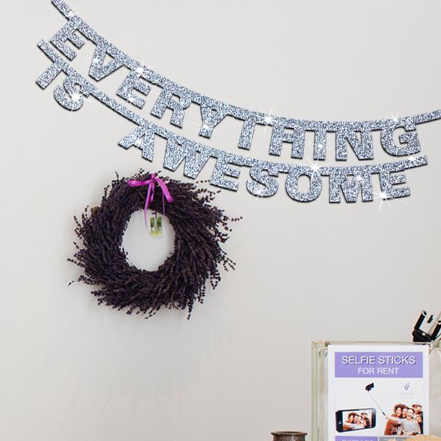 Mirror Text wall sticker