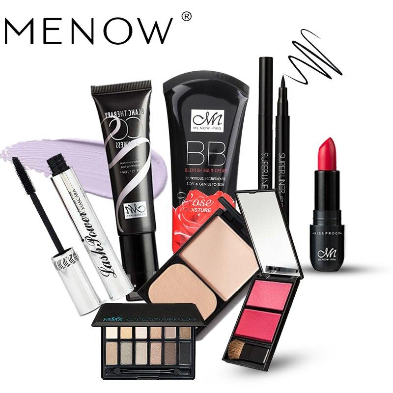 MENOW Set Eyeshadow & Blush & Lipstick & Mascara & Eyeliner & BB Cream & Foundation & CC Cream Cosmetics chanel 5ml cc cc cream