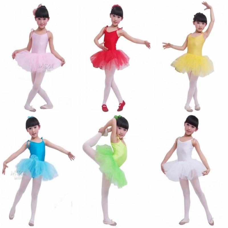 Buenos Ninos Kinder Mädchen Performance Trikot Kostüm Tanz Tüll Strumpf Ballettkleid