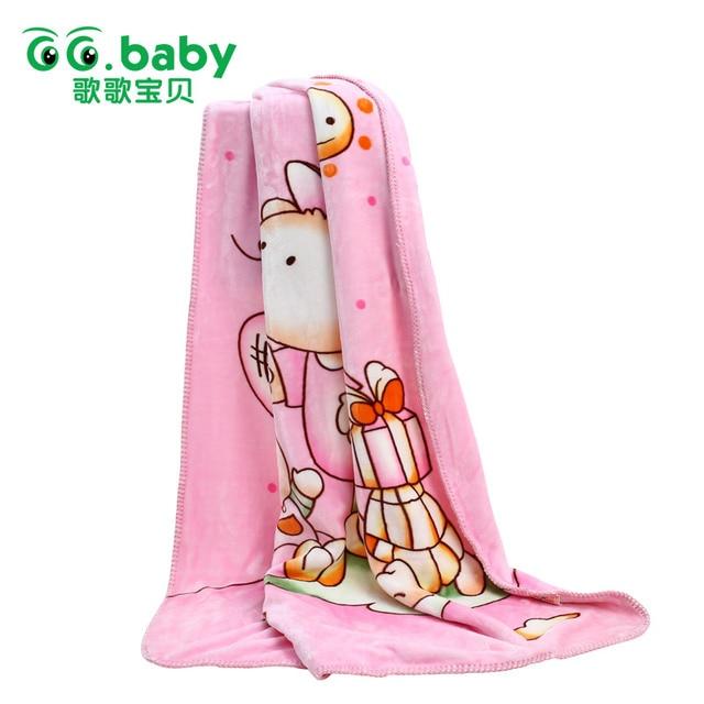 New GG.Baby Brand Spring Winter 80*100 Flannel Baby Blanket Animals Zoo Receiving Blankets Baby Bear Newborn Fleece Blanket Wrap
