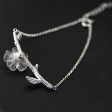 Lotus Fun 925 Sterling Silver Natural Crystal Handmade Fine Jewelry Creative Flower in the Rain Design Bracelet for Women Gift