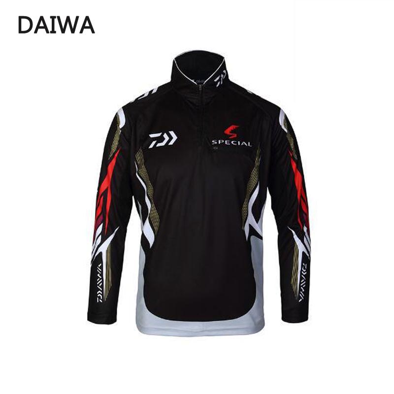 2018 New Men blouse Brand DAIWA Fishing Clothing UV Protection Moisture Wicking Breathable Long Sleeve Fishing Shirt-in Fishing Clothings from Sports & Entertainment
